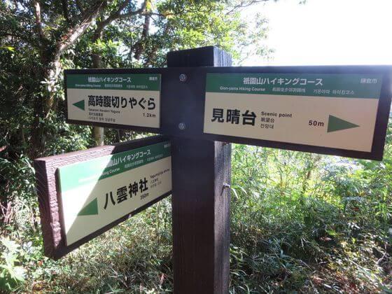 祇園山ハイキングコース 案内板3