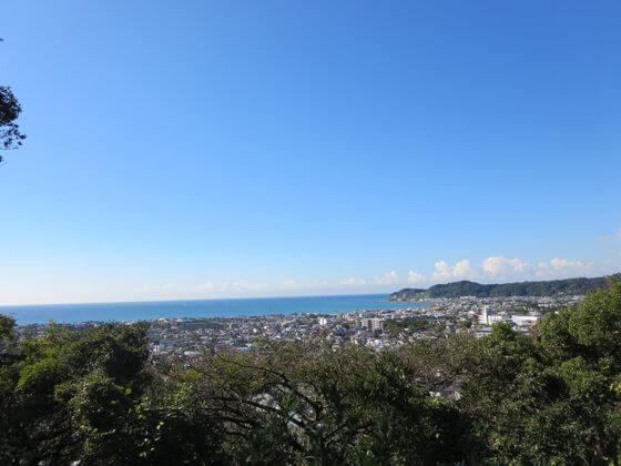 祇園山ハイキングコース見晴台 景色