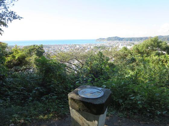 祇園山ハイキングコース見晴台 方位盤