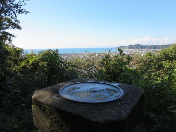祇園山 見晴台 方位盤
