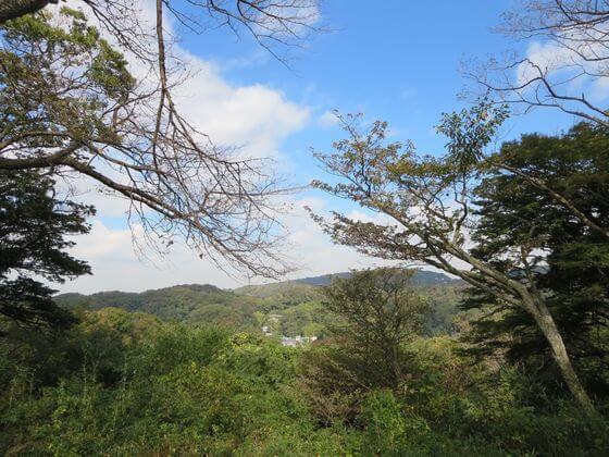 源氏山公園 山頂 景色