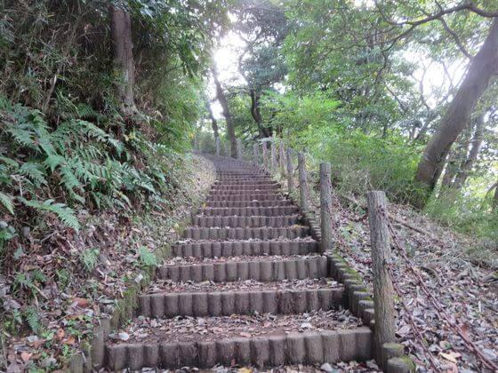 源氏山公園 階段