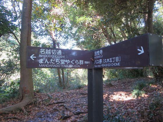 衣張山ハイキングコース 案内板