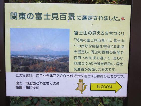 関東の富士見百景 案内板