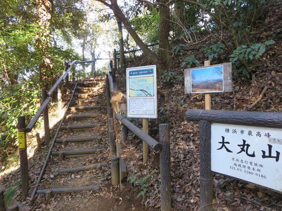 大丸山 階段