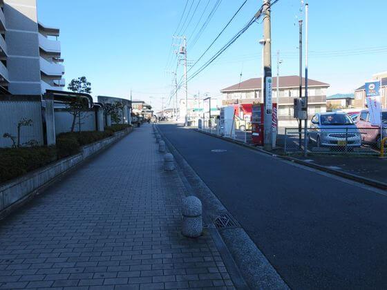 長津田駅 西口 道