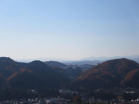 天覧山 山頂 景色