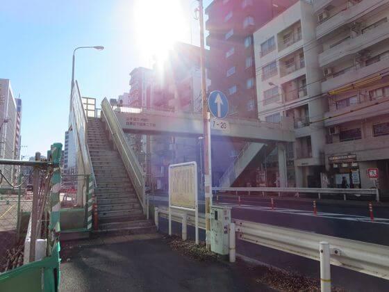 首都高速中央環状線 歩道橋