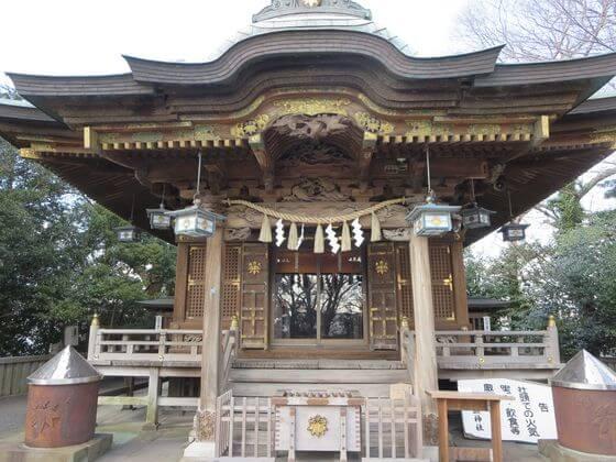 白旗神社 御社殿
