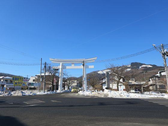 長瀞駅前交差点 鳥居