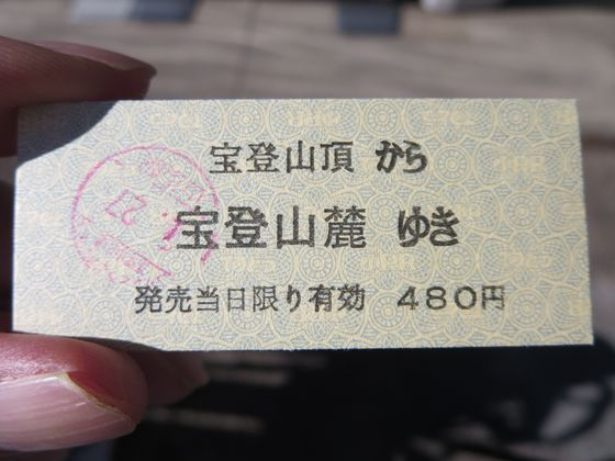 宝登山 ロープウェイ 切符