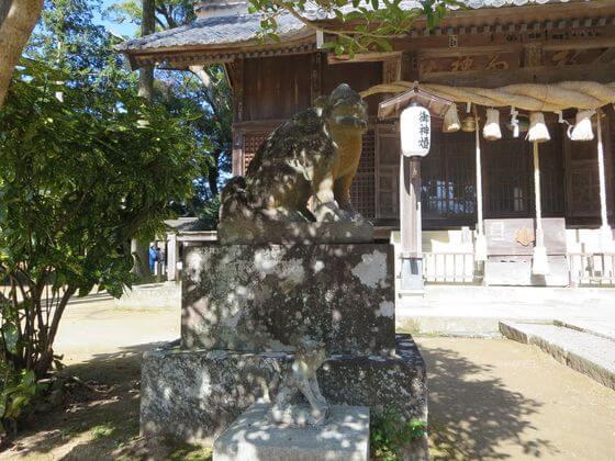 河津来宮神社 狛犬 左