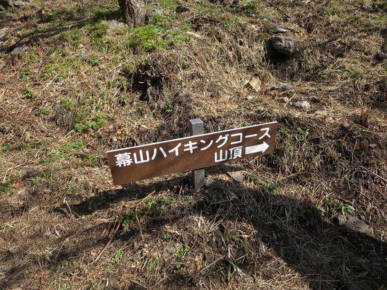 幕山ハイキングコース 立て看板