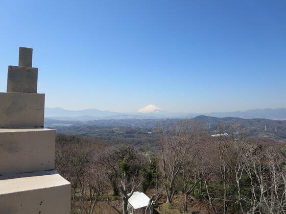 湘南平 展望台 富士山