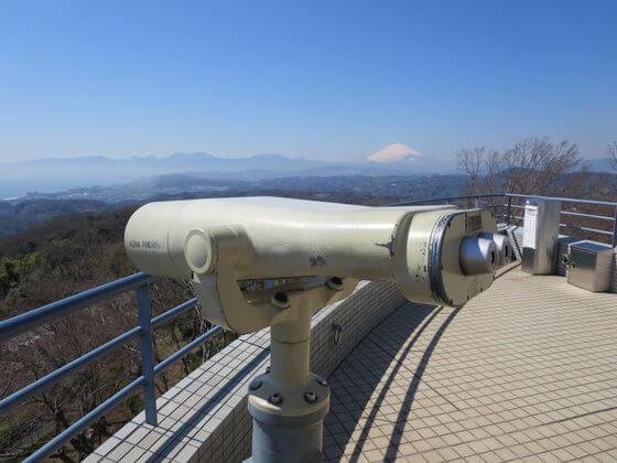 湘南平 展望台 望遠鏡