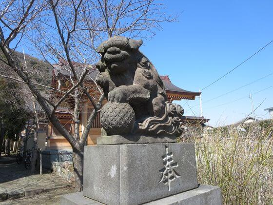 高来神社 狛犬 左