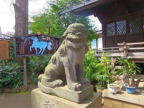 千束八幡神社 狛犬 左