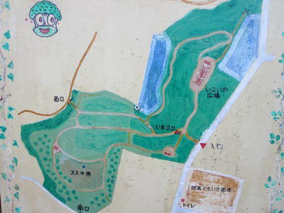 岡上梨子ノ木緑地 地図