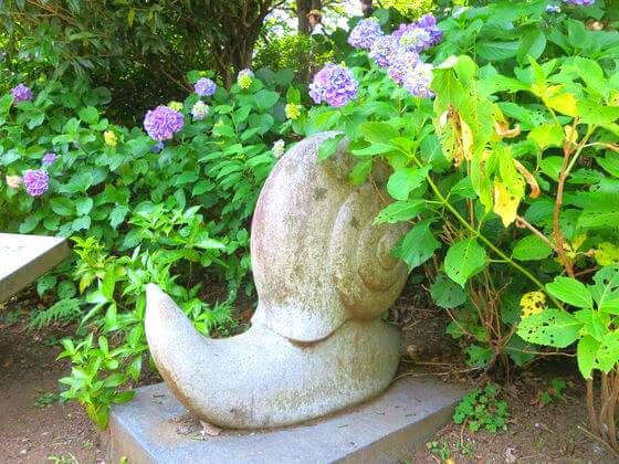 多摩川台公園 カタツムリ像