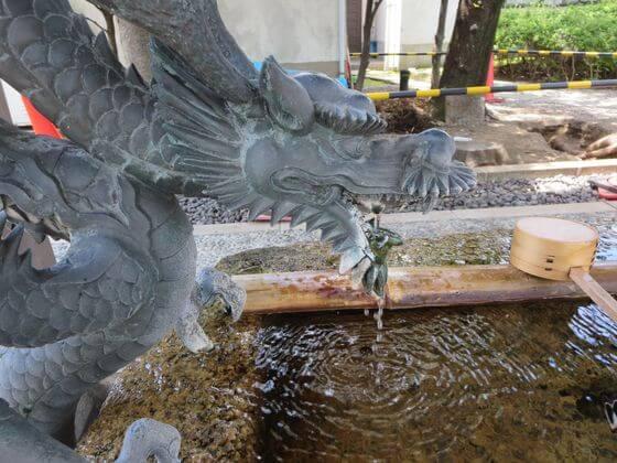 香取神社 手水舎