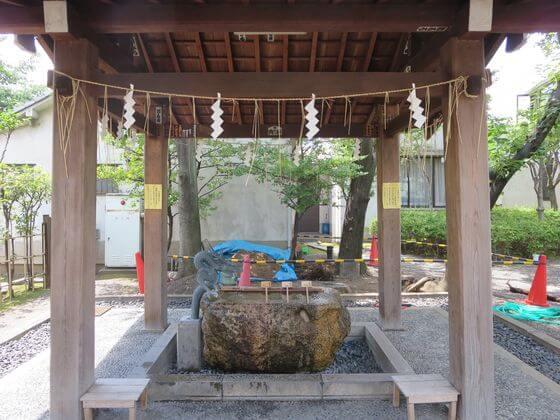 亀戸 香取神社 手水舎