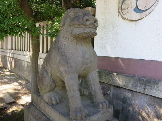富岡八幡宮 狛犬 左