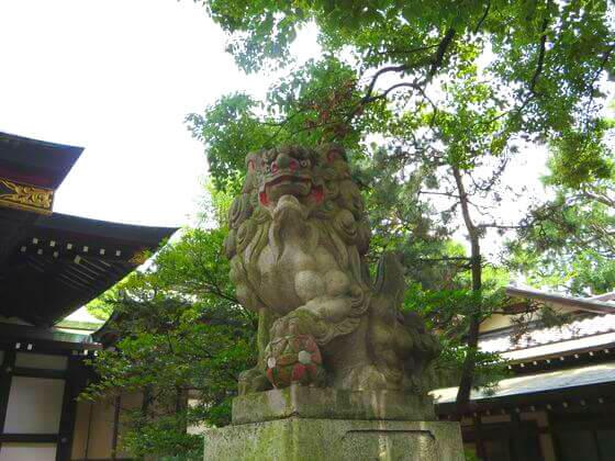 王子神社 狛犬 右