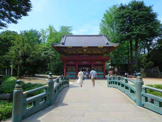 根津神社 神橋