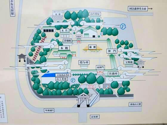 日枝神社 地図