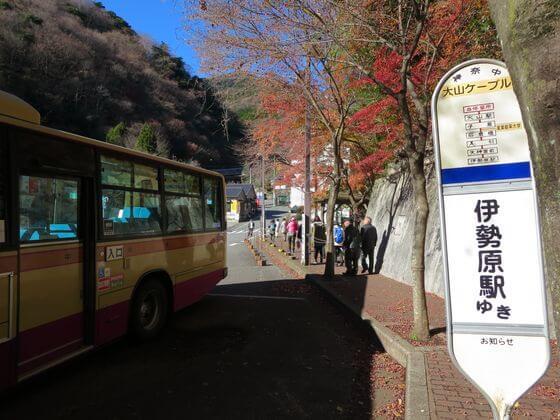 大山ケーブル バス停