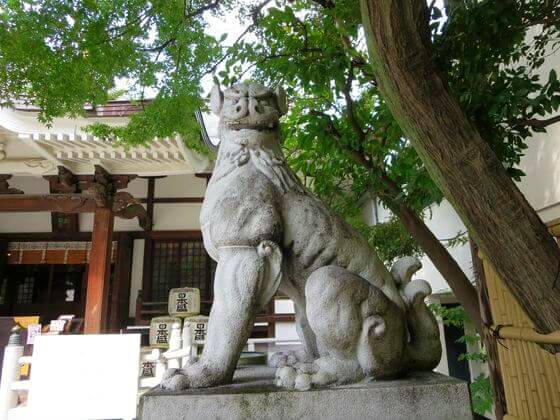 鳥越神社 狛犬 右