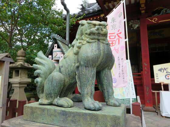 浅草寺 拝殿 狛犬 左