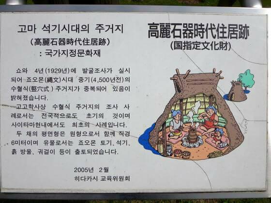 高麗石器時代住居跡 ハングル語