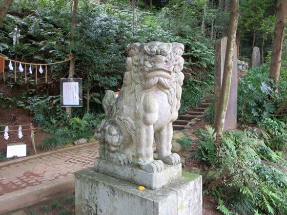 高麗神社 狛犬 左