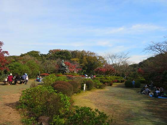 紅葉 源氏山公園 鎌倉