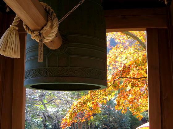 鎌倉 海蔵寺 鐘楼 紅葉