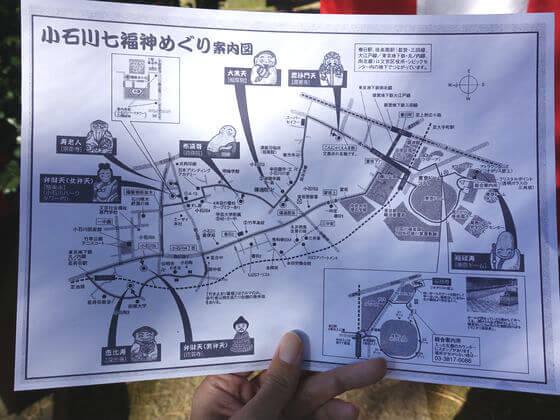 小石川七福神 地図