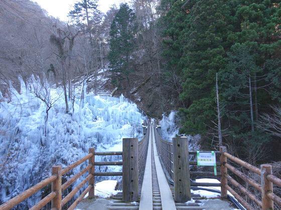 尾ノ内百景氷柱 吊橋