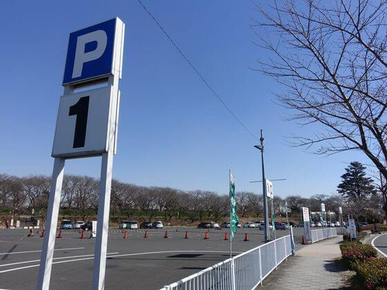 権現堂堤 駐車場