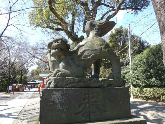 埼玉 鷲宮神社 狛犬