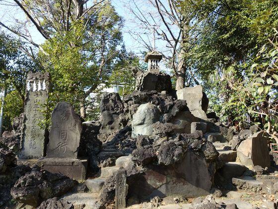 大川町氷川神社 富士塚