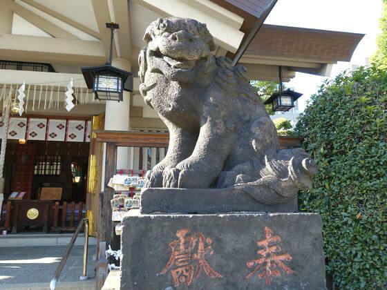 立会川 諏訪神社 狛犬