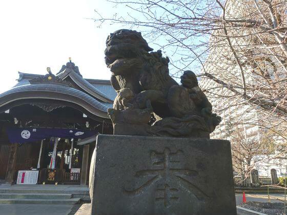 大田区 磐井神社 狛犬