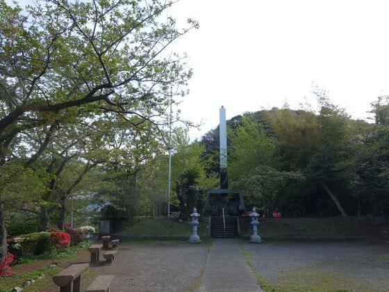 花の木公園 慰霊塔