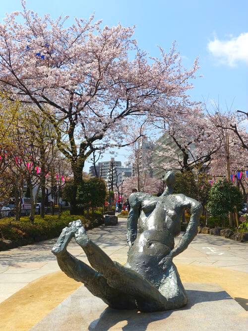 文京区 銅像 地下水