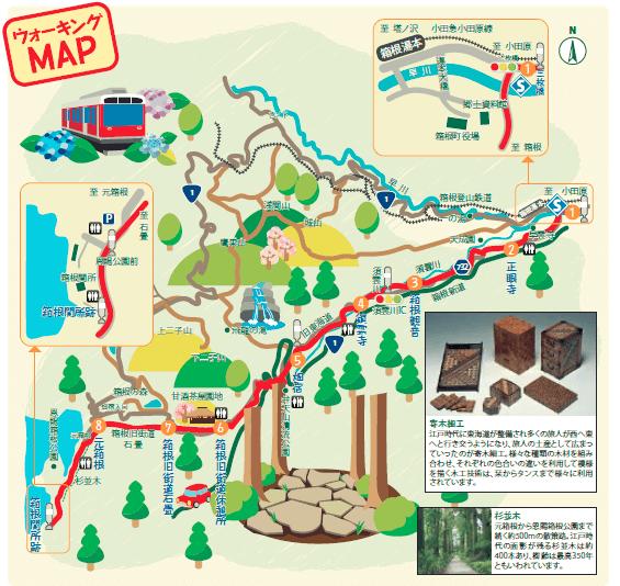 箱根旧街道 地図
