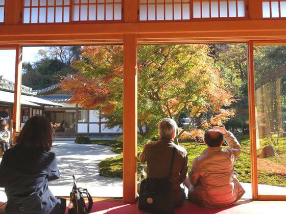紅葉 長寿寺