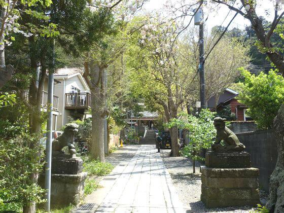 五所神社 鎌倉 参道