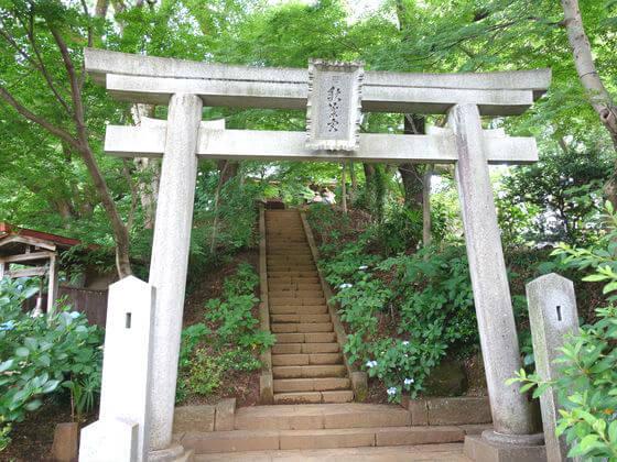 秋葉山神社 鳥居 浄慶寺