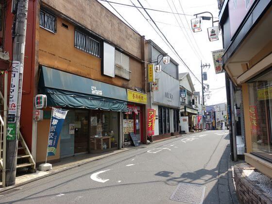 柿生駅 商店街
